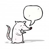 cartoon talking lab rat