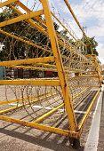 Razor Wire Iron Barrier