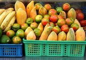 Tomatoes And Papayas And Bananas