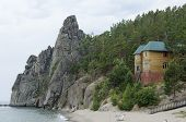 Recreation center. Baikal Lake, Sandy Bay, Cape Small Bell