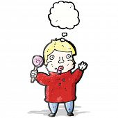 cartoon man with lollipop