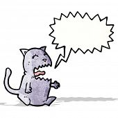 meowing cat cartoon