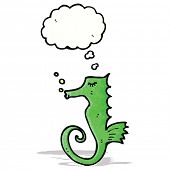 cartoon sea horse