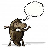 cartoon nude hippie man