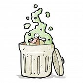 old garbage can cartoon