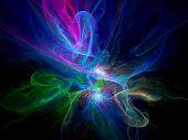 Colorful Glowing Plasma