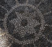 Ancient Turkish Cobblestone Mosaic Floor for Backgrounds