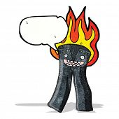 cartoon burning trousers