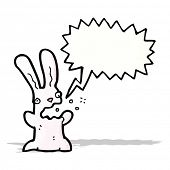 cartoon burping rabbit