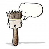 cartoon talking paintbrush