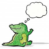 friendly cartoon crocodile
