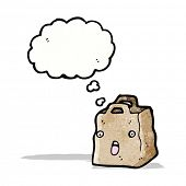 paper bag cartoon character