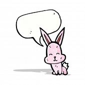 little rabbit with speech bubble