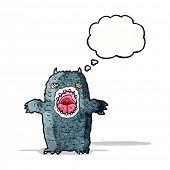 cartoon scary monster