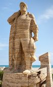 Monument To Fisherman In Calafell