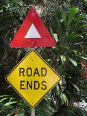 Road Ends Sign in National Park