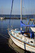 Sailboat at dock