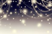 retro style with bokeh and  stars background