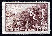 Postage Stamp North Korea 1966 Battle Of Jiansanfen
