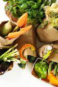 Fresh organic vegetables, close up
