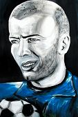 Graffiti Portrait Of Zinedine Zidane