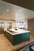 Modern kitchen, interior, house in cement