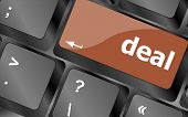 Deal Button On Keyboard With Soft Focus