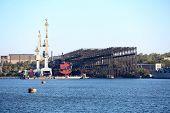 Old industrial shipyard