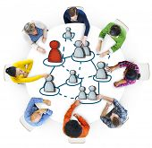 Group of People Brainstorming about Social Networking
