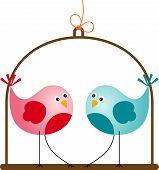 Cute Valentine Love Birds
