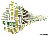 Vector eps concept or conceptual 3D abstract business success word cloud or wordcloud isolated on wh