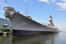 picture of battleship  - USS Wisconsin Battleship  - JPG