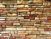 Colorful outdoor brick wall texture background