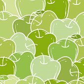 Ripe Green Apples Pattern