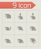 Vector archive icon set