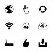 Vector internet icon set