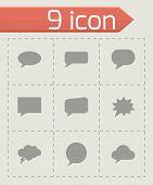 Vector speach bubbles icon set