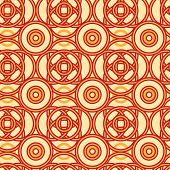 Magical celtic circles seamless pattern background