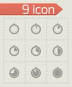 Vector stopwatch icon set