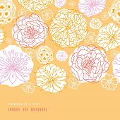 Warm day flowers horizontal decor seamless pattern background