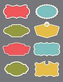 Set of 8 frame or label design elements