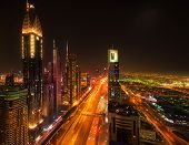 Sheikh Zayed Road By Night, Dubai