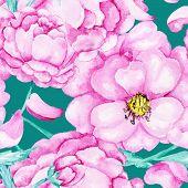 Wild rose summer pattern