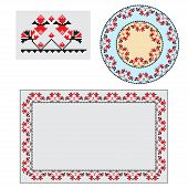 Set Of Ethnic Ornament Pattern Brushes. Vector Illustration