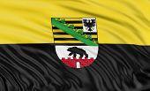 3D Saxony-Anhalt Flag
