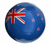 Soccer ball  with New Zealand flag