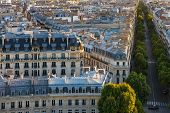 Paris Rooftops - Aerial View