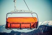 Orange cableway
