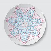 A set of round decorative elements - vector
