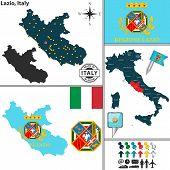 Map Of Lazio, Italy